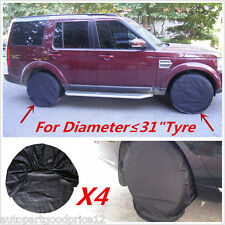 "4pcs Wheel Tire Covers For Offroad RV Trailer Camper Truck to 31"" Diameter Tyre"