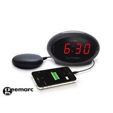 Reise-Wecker 75dB Geemarc Sonic Traveller Vibrationskissen Sonic Bomb USB MP3