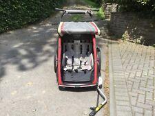 Chariot CX2 Fahrradanhänger mit Babysitz, Gepäckträger und Weber-Kupplung