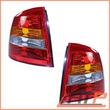 2X REAR TAIL LAMP LIGHT YELLOW/RED LEFT+RIGHT OPEL VAUXHALL ASTRA G MK 4 CC