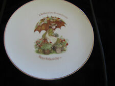 Vintage Porcelain Holly Hobbie Plate Molthers Day Plate 27cm RARE