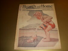 Vintage HEARTH AND HOME Magazine, SPRINGTIME Cover Augusta, Maine, August, 1932!