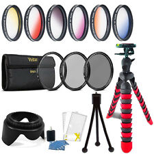 52mm Color Filter + UV CPL ND Accessory Kit Nikon D3300 D3200 D3100 D3000 D5300