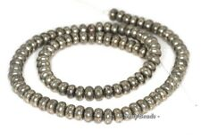 6X4MM PALAZZO IRON PYRITE GEMSTONE RONDELLE DONUT 6X4MM LOOSE BEADS 16""