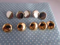 15mm Flat Headed Gold and Silver Blazer Jacket Shank Buttons in Asst Packs