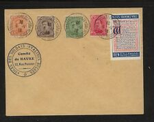 Belgium nice franking stamps on cover with label Ms0114
