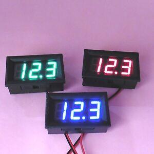 2 Wire DC 5-30V Digital Voltmeter Display 0.56'' Battery Voltage Panel LED