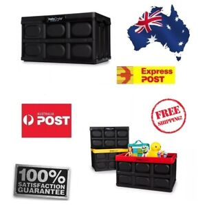 Instacrate Folding Crate Box 46L Max 27KG Perfect for Car Boot Storage FREE POST