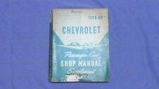 1959 1960 Chevrolet Passenger Car Shop Manual Supplement Belair Biscayne Impala