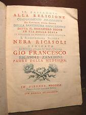 Borghesi / Musica di Felici B. : Componimento, Nera Ricasoli - Firenze 1741 Raro