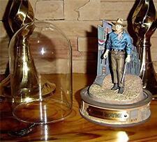 John Wayne Hand Painted Sculpture Figurine, Glass Dome Plate HOTEL WESTERN MOVIE