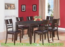 ONE LYNFIELD RECTANGULAR DINETTE DINING TABLE WITHOUT CHAIR IN CAPPUCCINO FINISH