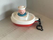 FISHER-PRICE- little people, jumbo   Boat + figure - vintage 1978