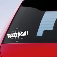 BAZINGA Funny Car Sticker Window Bumper Novelty Vinyl Decal