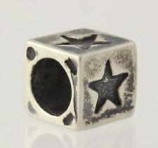 Star Block Bead - Sterling Silver 925 Jewelry Making Women's Charm
