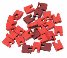 25x 2.54mm Micro Jumper Red Shorting Link Shunt With Open Test Point