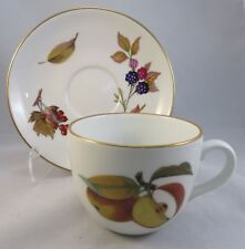 "Royal Worcester ""Evesham Gold Porcelain"" Cup & Saucers Made in England 1961"