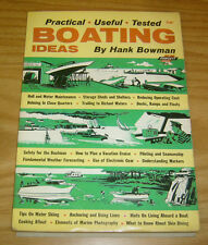 Fawcett Book #555 VG boating ideas by hank bowman - 110 pages - 1964 boats book