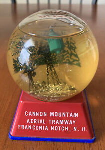 Old Vintage Snow Globe Cannon Mountain Aerial Tramway Franconia Notch NH