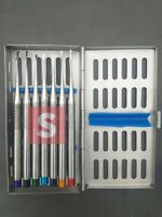 Set of 7 PDL Root Luxating Elevators Precise PERIOTOMES Implant Surgery Tools CE