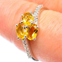 Citrine 925 Sterling Silver Ring Size 9 Ana Co Jewelry R51936F