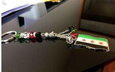 Unisex Souvenir Syria Flag Beads Keychian Key Chain Syrian Key Chain Key Ring
