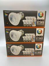 Gu10 Remote Controlled LED Light Bulbs 3w 20w Equivalent Yangcsl