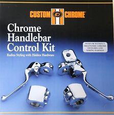 CHROME HANDLEBAR CONTROL KIT 9/16 FOR HARLEY 96-06 SPORTSTER SOFTAIL DYNA