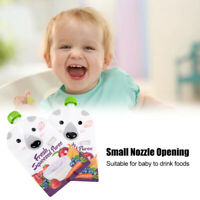 8pcs 200ml Reusable Refillable Squeeze Liquid Food Pouch Storage Bag Baby Food