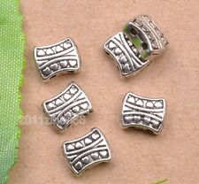 wholesale 30pcs tibetan silver Double hole spacer bead charm beads 8mm