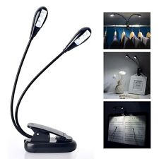 Led Light Table Desk Lamp Portable USB Rechargeable Bed Reading Travel Clip New