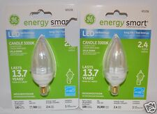 GE ENERGY SMART CANDLE 3000K LED LIGHT BULB 2.4 WATT CLEAR INDOOR OUTDOOR 65536