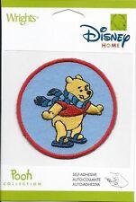 Disney Winnie the Pooh Patch Ice Skating Winter Scarf Craft Christmas Decor New