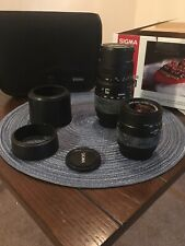 Sigma Camera Lenses Set 70-300mmD and 28-80mmD With Case
