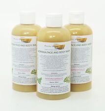 1 FLACONE DI LIQUIDO Moringa Face e Body Wash 100% naturale SLS Free 250ml