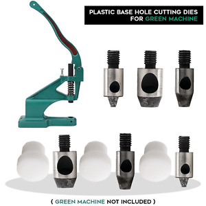 Iron Multilayer Hole Cutter Punch Die Green Hand Press Machine for Leathercraft