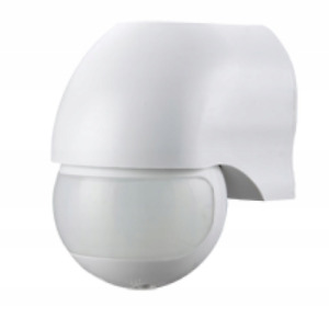 Motion detector sensor outside IP44 max.12m 180 ° surface-mounted wall infrared
