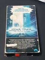 Star Trek The Motion Picture VHS 1ST Issues Special Longer Version 12 Minute Add