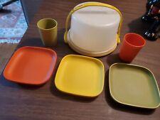 Vintage Tupperware Mini Serve-It Children's Party Set
