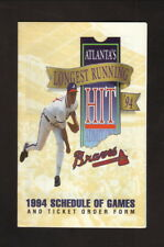 Greg Maddux--Atlanta Braves--1994 Pocket Schedule--Stouffer Concourse Hotel