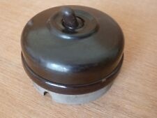 Vintage Tumbler ON/OFF Switch Black Ceramic AC - ArtDeco