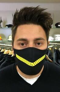 """Mund Nasen Maske Feuerwehr Design waschbar 60° Grad dunkelblau schwarz """"Fighter"""""""
