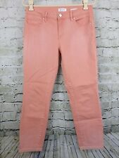 Jessica Simpson Womens Jeans Coral Peach Rolled Crop Skinny Stretchy Size 8/29