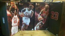 Enterbay Michael Jordan 1/6 scale 45 23 Black Red White Chicago Bulls Jersey NEW