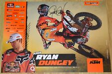 RYAN DUNGEY Signed Red Bull KTM Poster 4-Time SX Champion