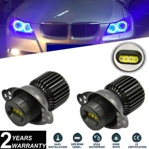 2x 80W Blue LED Angel Eyes Halo Ring Bulb Kit CREE For BMW E90 E91 LCI 2008-2011