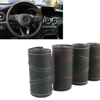 38cm Leather Car Steering Wheel Cover Good-looking DIY Auto Protection Needle