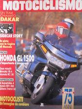 MOTOCICLISMO n°1 1989 Honda GL 1500 Bimota YB 4 Kawasaki KR1 250 [P28]