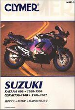 Suzuki Katana 600 88-96 & GSXR750 GSXR1100 GSXR 750 1100 86-87 CLYMER MANUAL