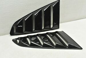 2015-2018 Ford Mustang GT 5.0 Rear Window Louver Cover Scoop Set Pair 15-18